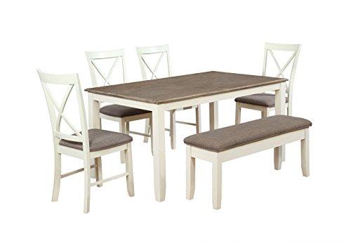 Powell Furniture 15D8153PC6 Jane 6 Piece Dining Set, Multicolor