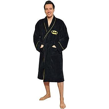DC Comics Batman Dark Knight Superhero Cotton Bathrobe One Size Fits Most