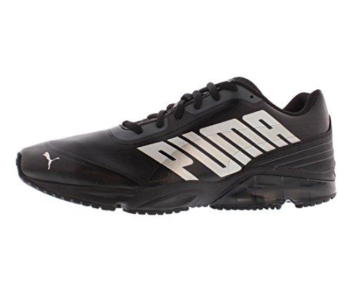 PUMA Men's Powertech Defier SL Running Shoe,Black/Turbulence/PUMA Silver,11 M US