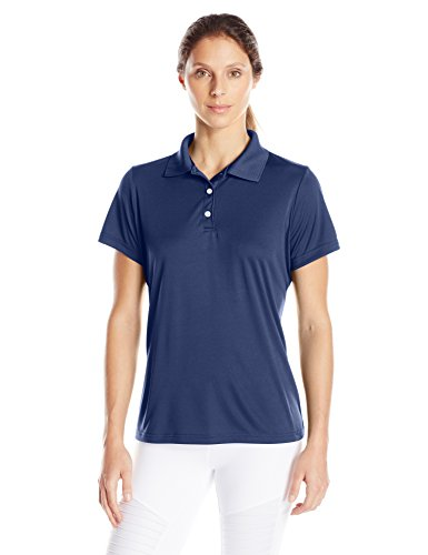 Hanes Sport Women's Cool DRI Performance Polo,Navy,Medium
