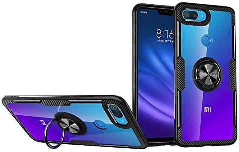 KONEE Funda para Xiaomi Mi 8 Lite, 【Transparente Anti-Rasguños 】 【360° Giratorio Anilla Posterior】 【Compatible con Soporte de Montaje Magnético del ...