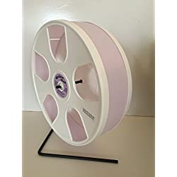 "11"" WODENT EXERCISE WHEEL (HEIGHT 12.3"") LAVENDER WITH WHITE PANELS"