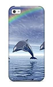 4187822K64247189 Top Quality Protection Dolphins Case Cover For Iphone 4/4s