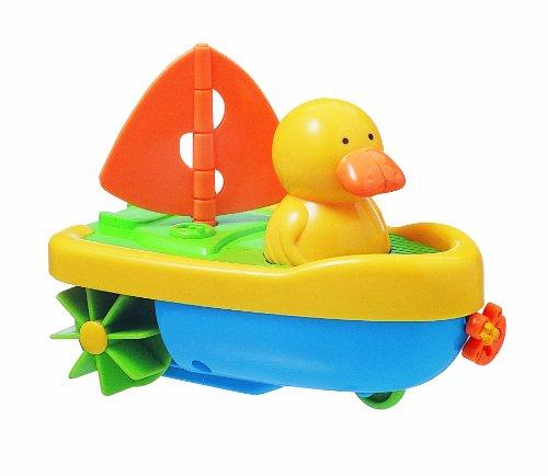 Tigex 601115 Badespielzeug, Ente in Boot, zum Aufziehen