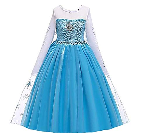 Ice Queen Glitter Princess Party Dress Costume (3-4, Blue 5)]()