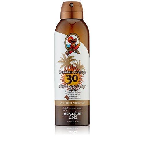 Australian Gold SPF 30 Spray copertura Premium Plus crema solare, 10132, Confezione 1er (1 x 0,177 l) Bradford & Hamilton B.V. A75121