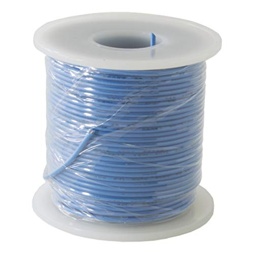 EX ELECTRONIX EXPRESS Solid Hook Up Wire - 22 Gauge, 100 Foot Spool - Blue (Shade May Vary)