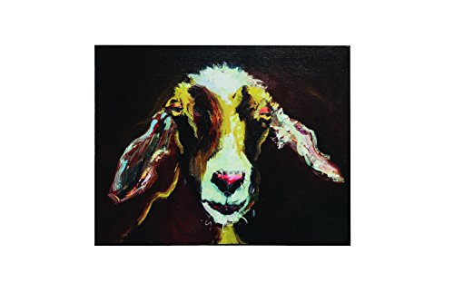 Creative Co-Op Goat Image Canvas Wall Decor