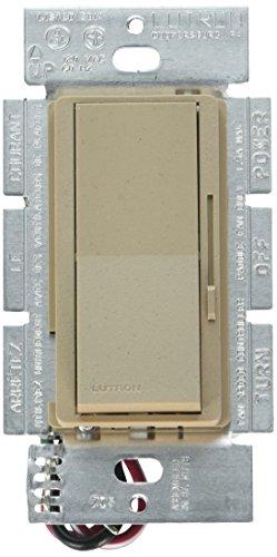 Ms Mocha Stone - Lutron DVSCFSQ-F-MS Diva 1.5 A 3-Way/Single Pole 3-Speed Fan Control, Mocha Stone