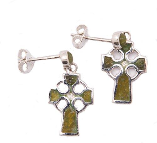 Marble Connemara Cross (Celtic Cross Earrings Connemara Marble)