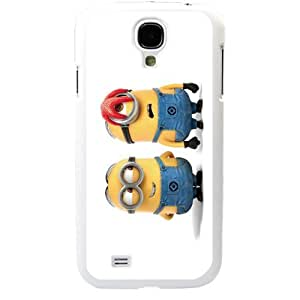 Despicable Me Minions Samsung Galaxy S4 SIV I9500 TPU Soft Black or White case (White) by supermalls