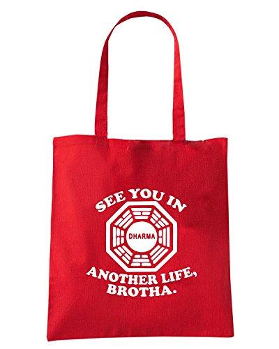 T-Shirtshock - Bolsa para la compra OLDENG00746 classic lost quote tshirt Rojo
