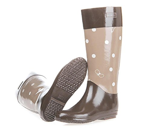 SONGYUNYAN Women High 's Rain 1 Boot Thick Natural Rubber Puddles Base rrqYpdw