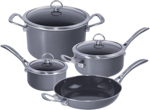Chantal Copper Fusion 7 Piece Cookware Set, Platinum