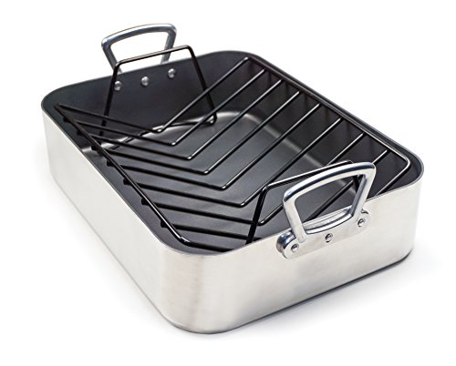 RSVP Professional Aluminum Nonstick Roasting Pan with Rack by RSVP International
