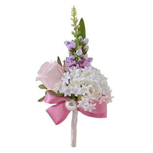Silk Carnation Flowers Groom Bride Corsage Boutonniere Wedding Prom Decor #3