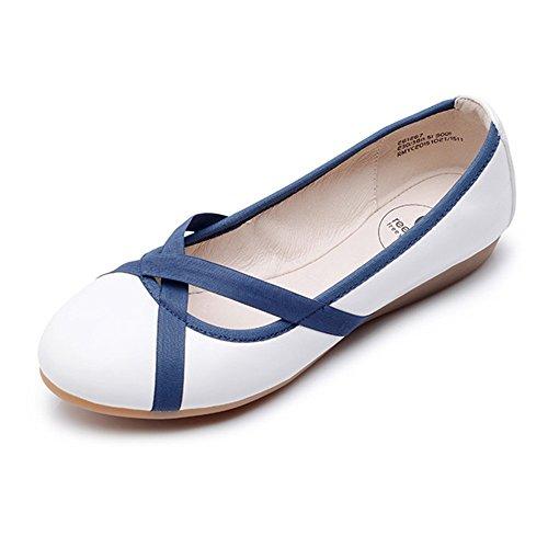 fiesta baile UK3 Bombas CN34 Zapatos con plegables plegable la mujer ZHANGRONG después enrollables EU35 danza de para para y bolsa ballet qHq68r