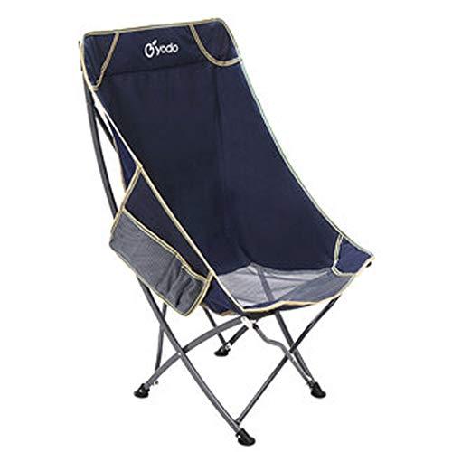ZQG Outdoor Portable Folding Chair, Back Fishing, Leisure Beach Lounge Chair, Lunch Break Chair, Moon Chair (Color : A)