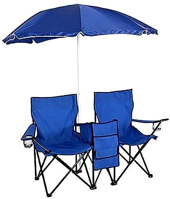 Amazon.com: Silla de playa con paraguas, silla de camping ...