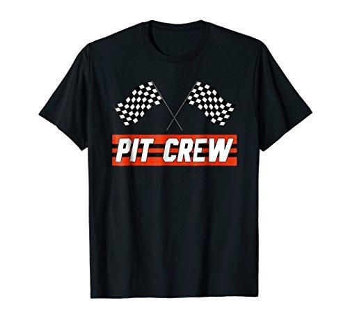 Mens Pit Crew Shirt - Mens PIT CREW Race Car T Shirt - Hosting Parties T-Shirt Large Black