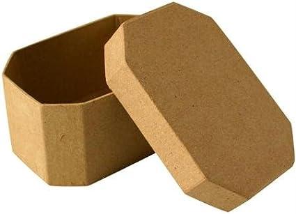 Caja de cartón octogonal 10 cm: Amazon.es: Hogar