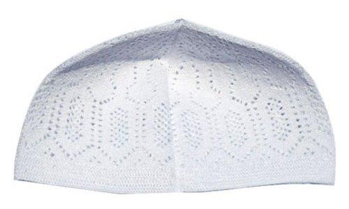 White-One-size-Turkish-Muslim-Islamic-Kufi-Hat-Taqiya-Takke-Peci-Skull-Cap