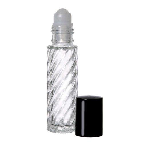 144 Swirl 1/3 унции. Roll-на многоразового стекла парфюмерные Бутылки с 12 FREE 5 мл. Капельницы для легкого заполнения.