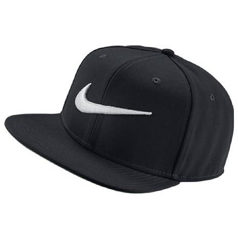 Nike U NK Pro Swoosh Classic Gorra, Hombre, Negro/Plata, Talla Única: Amazon.es: Deportes y aire libre