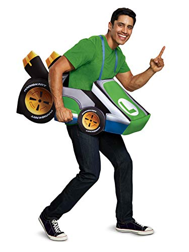 Disguise Luigi Kart Child Child Costume, One Size Child -
