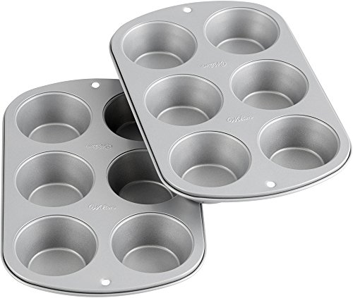 Wilton Recipe Right Non-Stick Standard Muffin Pan Multipack, 6-Cup (2-Pack)