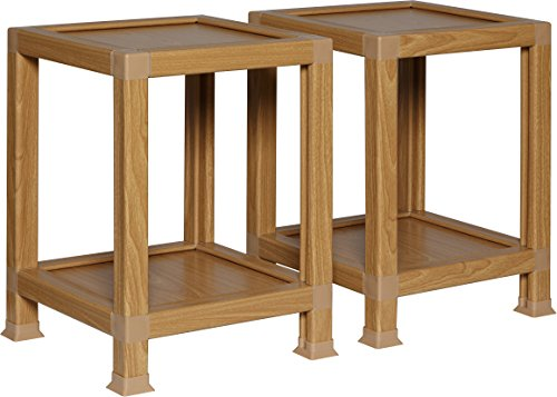 Price comparison product image OneSpace 100% Recycled Paper End Tables,  Oak (Set of 2)