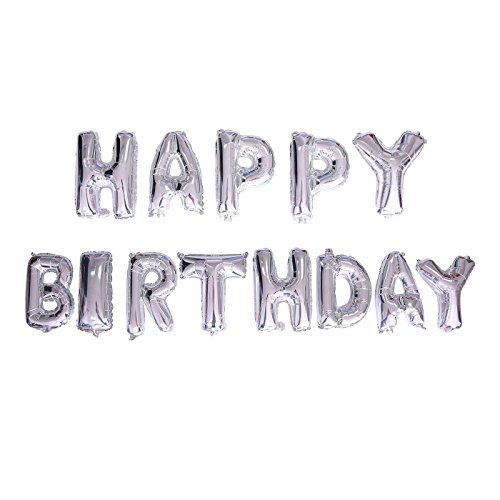 Balloon Banner Happy Birthday Foil Balloon Banner with Pump Blow Up Letter Balloon Party Decorations (16