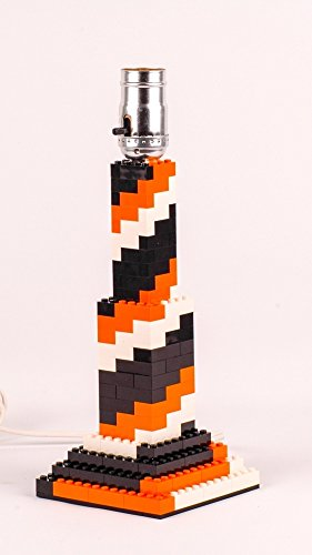Orange and Black Spiral LEGO Lamp