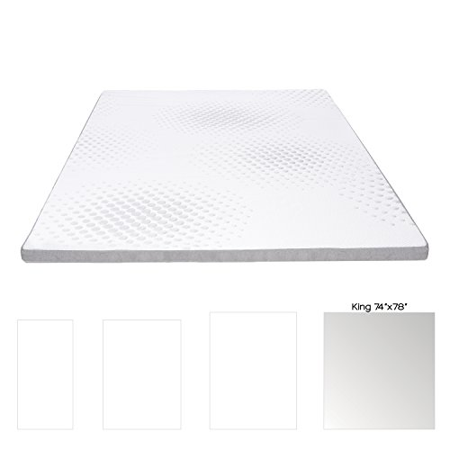 """Milliard 2-Inch Gel Memory Foam Mattress Topper - Featuring a Removable and Washable Soft Bamboo Cover - King - 78''x74''x2"""" by Milliard (Image #5)"""