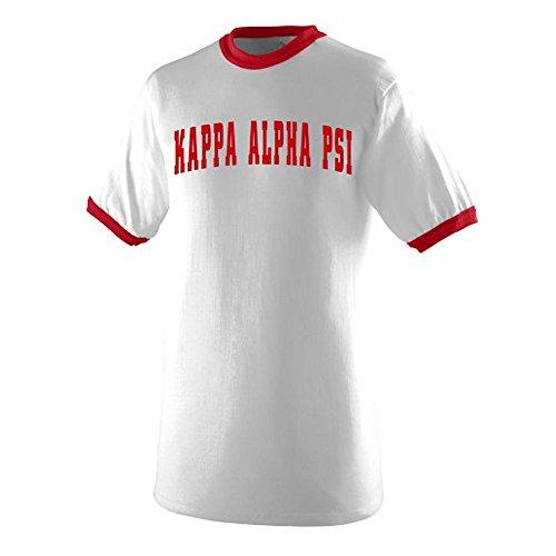 - Kappa Alpha Psi Ringer T-Shirt X-Large White/Red