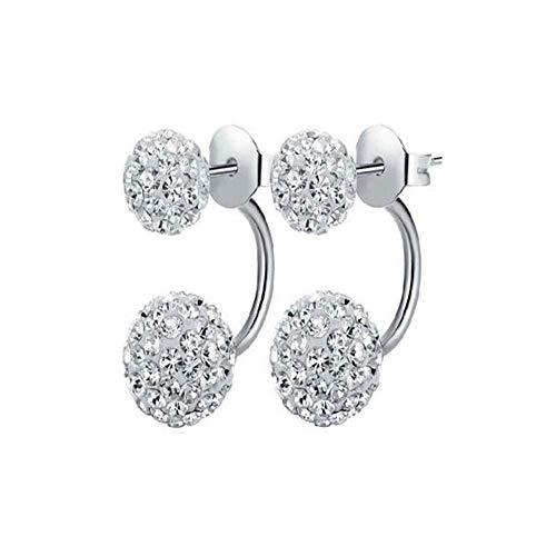 Earrin Earrings Jewelry - COVERCOCO ❤️Women Earrings,Hot Sale Clearance New Fashion 2018 Holiday Sale Women Jewelry Rhinestone Austria Crystal Pendant Hoop Earrin (Silver)