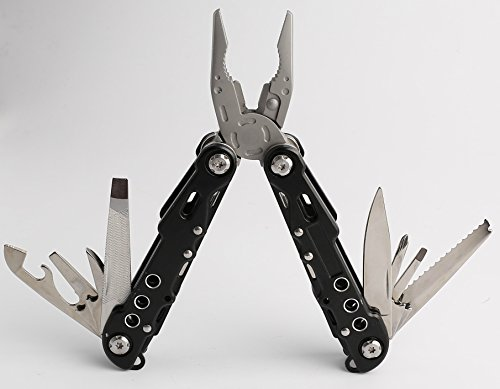 Multi Tool with Case Stainless Steel Safe Locking Tools Internal Spring Loaded Pliers For Car Camping Hunting & Fishing