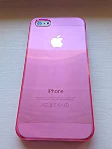 Crystal Clear Back Case Cover Skin Shell For Apple Iphone 5 5S (pink)