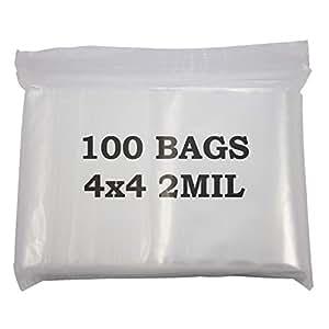 Plastic Zip Top Bag 4x4 (100-Pcs)