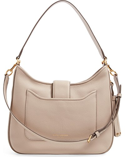 Jacobs Marc Shoulder Bag Leather Interlock Hobo Taupe Medium 7nqvZ1