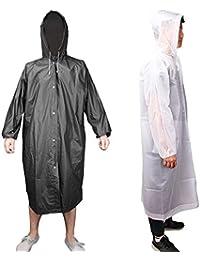 Outdoor Raincoat Waterproof Reusable Rain Poncho Emergency Lightweight with Hood Men Women Travel Camping