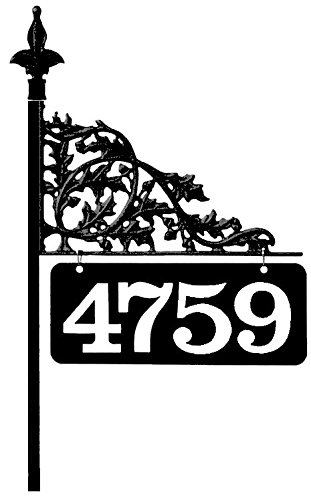 "30"" Oak Reflective 911 Home Address Sign for Yard - Custom Made Address Plaque - Made in the USA - Address America since 1992- Great Gift for Parents and Grandparents"