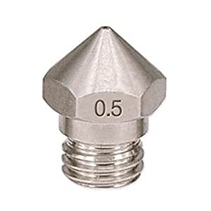 SODIAL 1PC New Arrival 3D Printer M7 Stainless Steel MK10 Nozzle 0.5mm for 1.75mm 3D Printer Parts from SODIAL