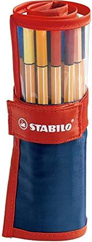 STABILO 8825-021 | Caneta Hidrográfica | Stabilo Point 88 | 25 Cores Diferentes