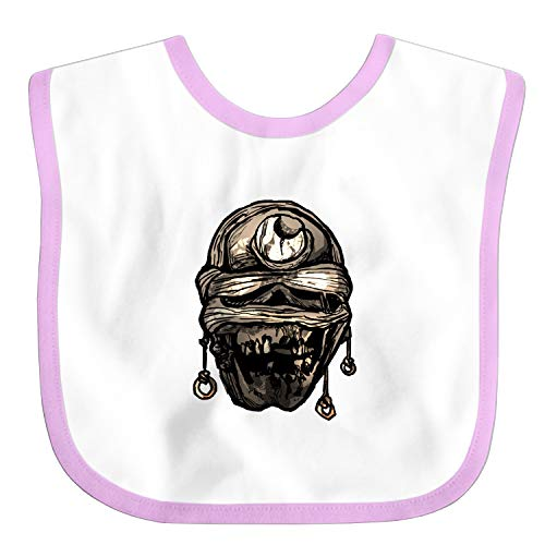 - Premium Toddler Bibs,Crescent Moon Mummified Skull Candle Light Baby Bibs, Perfect Baby Gift for Feeding, Drooling and Teething