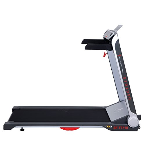 Sunny Health & Fitness Motorized Folding Running Treadmill with Wide Base, Portable, USB, Aux, Flat Folding & Low Profile - Strider, SF-T7718, Black by Sunny Health & Fitness (Image #8)
