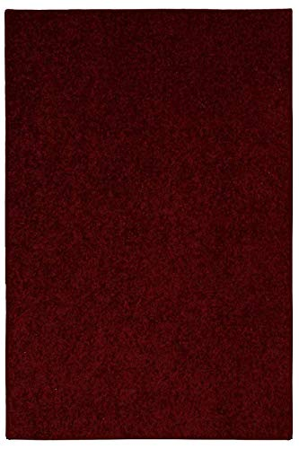 d Color Burgundy Area Rug - 3'x5' ()