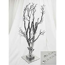 "32"" Potted Manzanita Tree with Garlands for Wedding DIY Centerpieces"