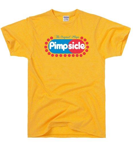 DirtyRagz Men's Pimpsicle Funny Pimp T Shirt M Gold