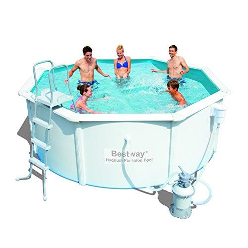 hydrium stahlwandpool set poseidon 366x122cm mit sandfilterpumpe zubeh r schwimmbad und saunen. Black Bedroom Furniture Sets. Home Design Ideas